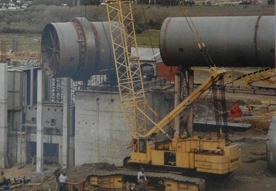 Compañia Uruguaya de Cemento Portland – Planta Minas –  Montaje de horno rotativo – Virola Base 1